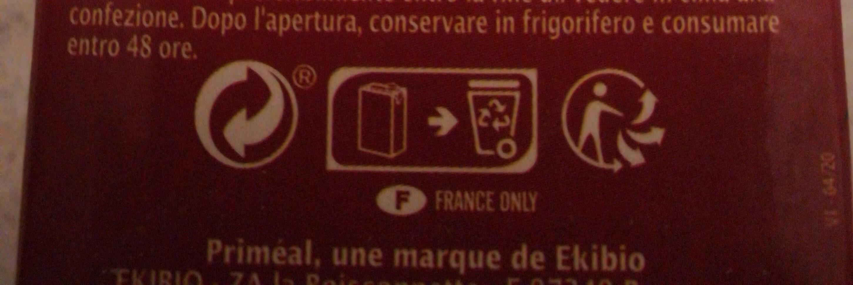 Soupe orientale - Instruction de recyclage et/ou informations d'emballage - fr
