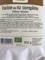 Farine de riz complète - Ingrédients - fr