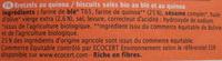 Biscuits salés bio au blé et au quinoa - Ingredients - fr