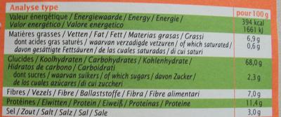 Biscuits salés bio au blé et au quinoa - Nutrition facts - fr