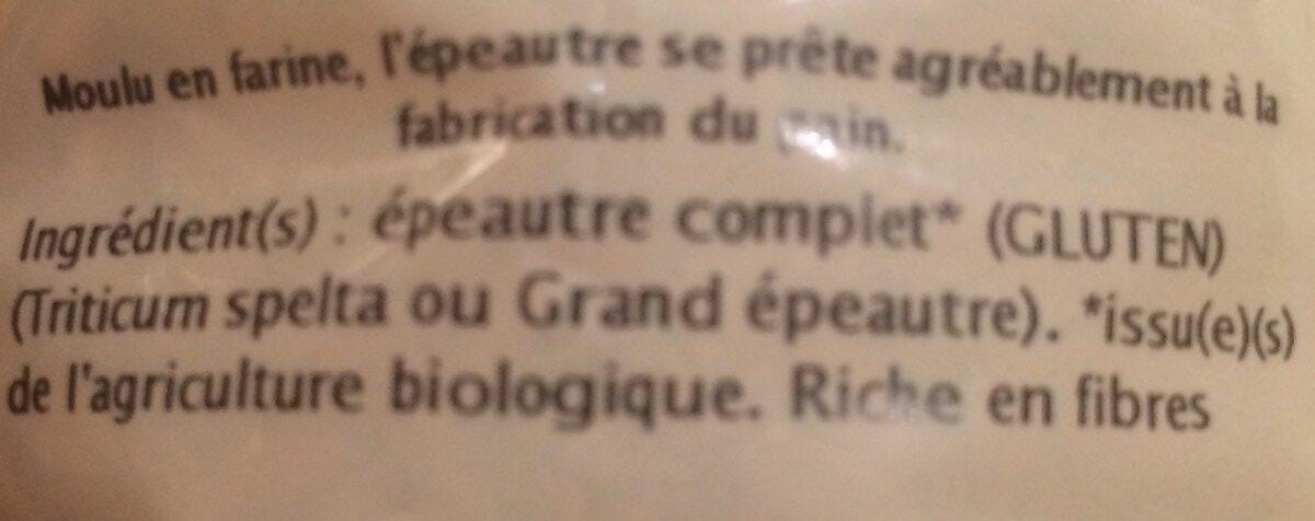 EPEAUTRE COMPLET - Ingrédients - fr