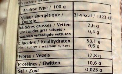 EPEAUTRE COMPLET - Informations nutritionnelles - fr