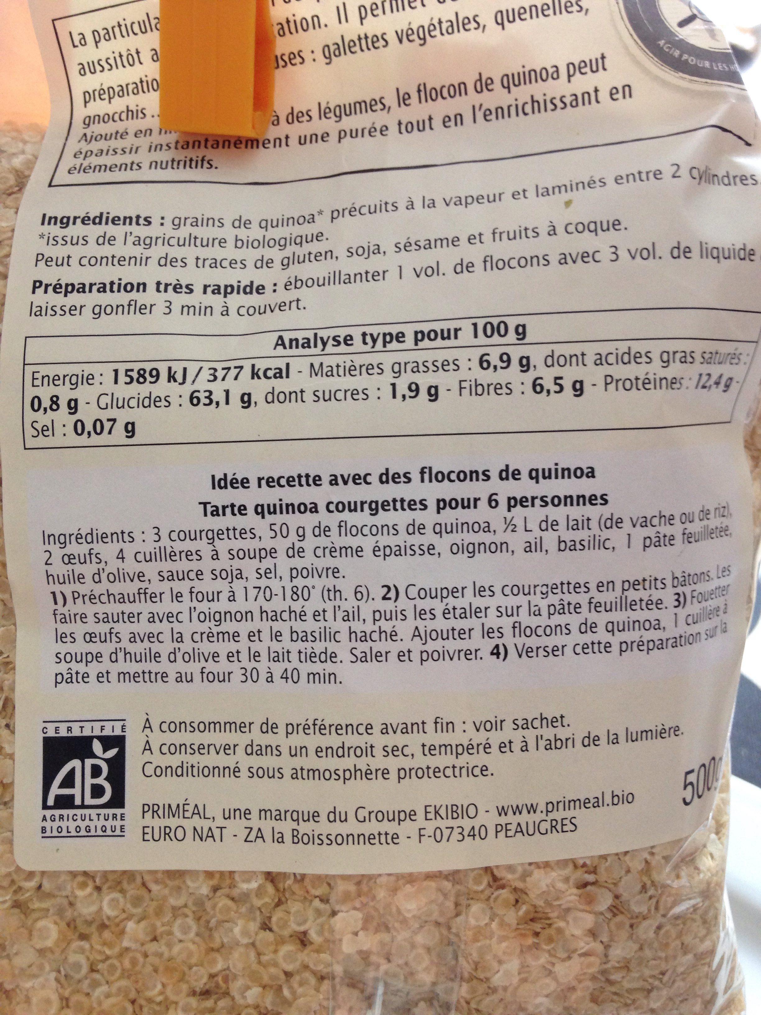 Flocons De Quinoa - Ingredienti - fr