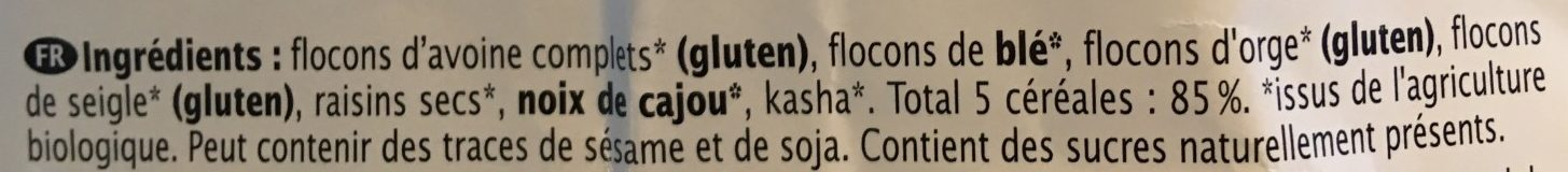 Muesli 5 céréales - Ingrédients - fr