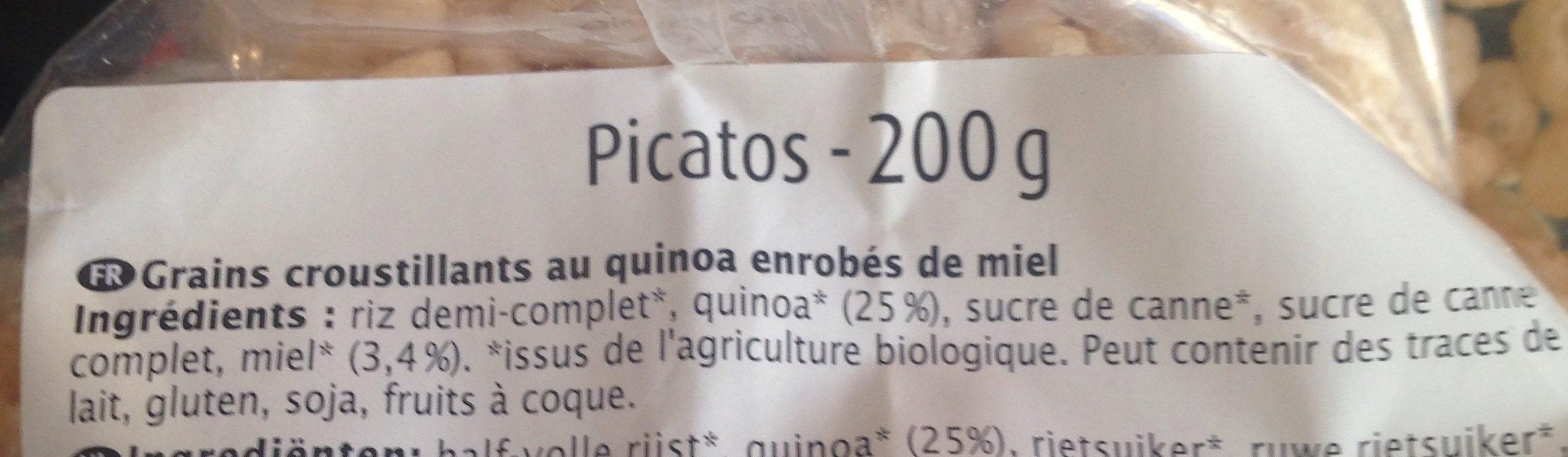 Picatos Quinoa - Ingrédients - fr