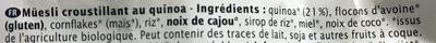 Crusto - Ingrédients - fr