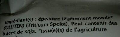 Farine d'epeautre blanche - Ingrédients - fr
