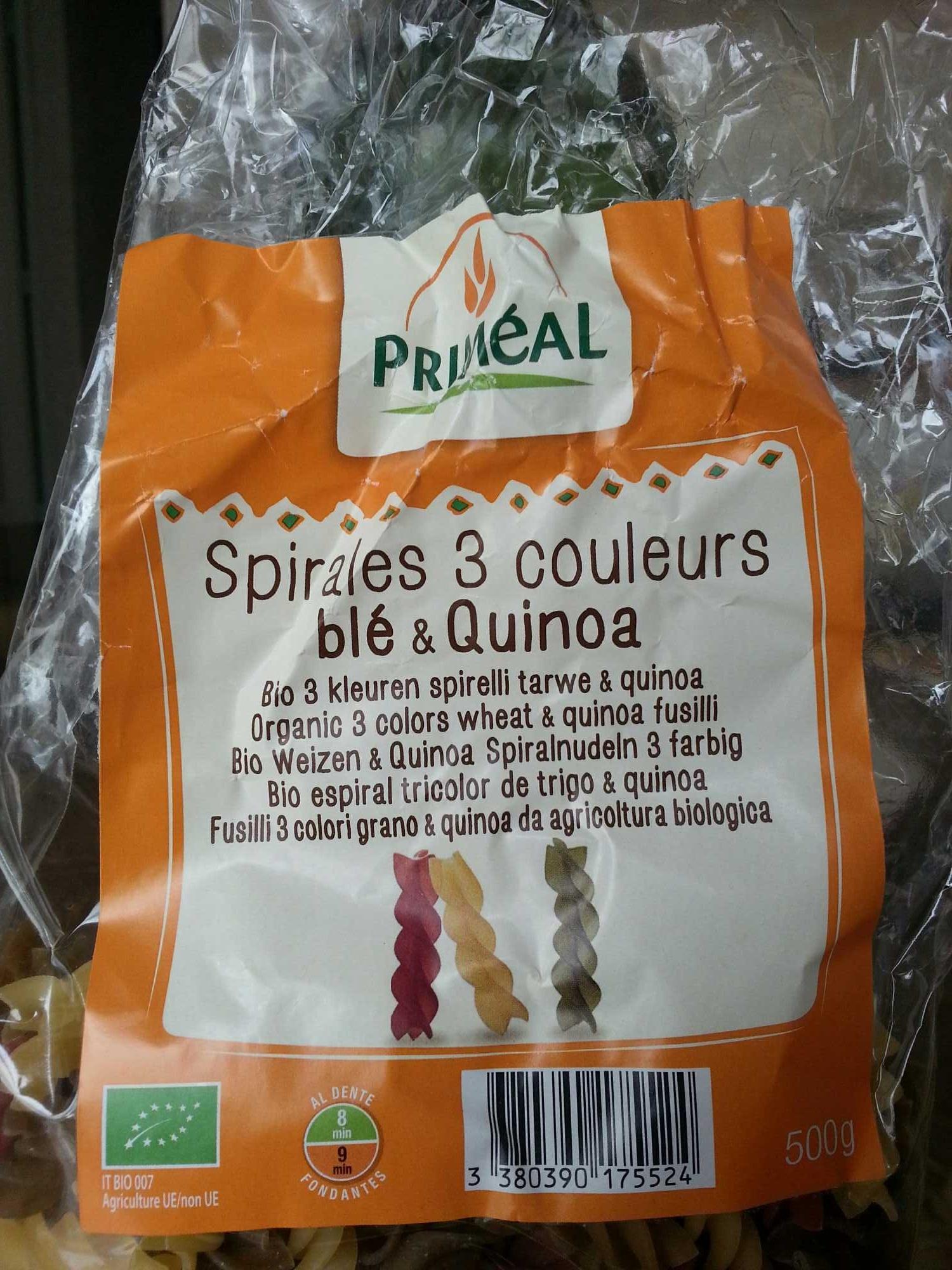 Spirales 3 couleurs blé & quinoa - Produit - fr