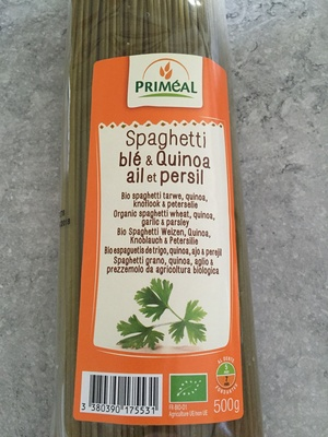 Spaghetti Blé & Quinoa - Ail et persil - Produit - fr