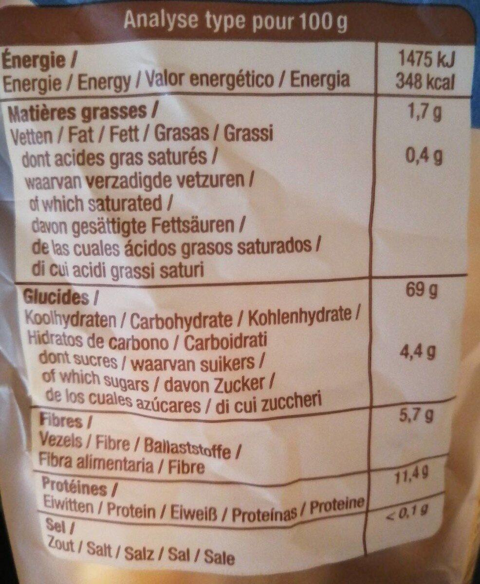 Papillons demi-complets - Informations nutritionnelles - fr