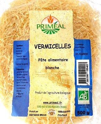 Vermicelles, Pâte alimentaire blanche - Product