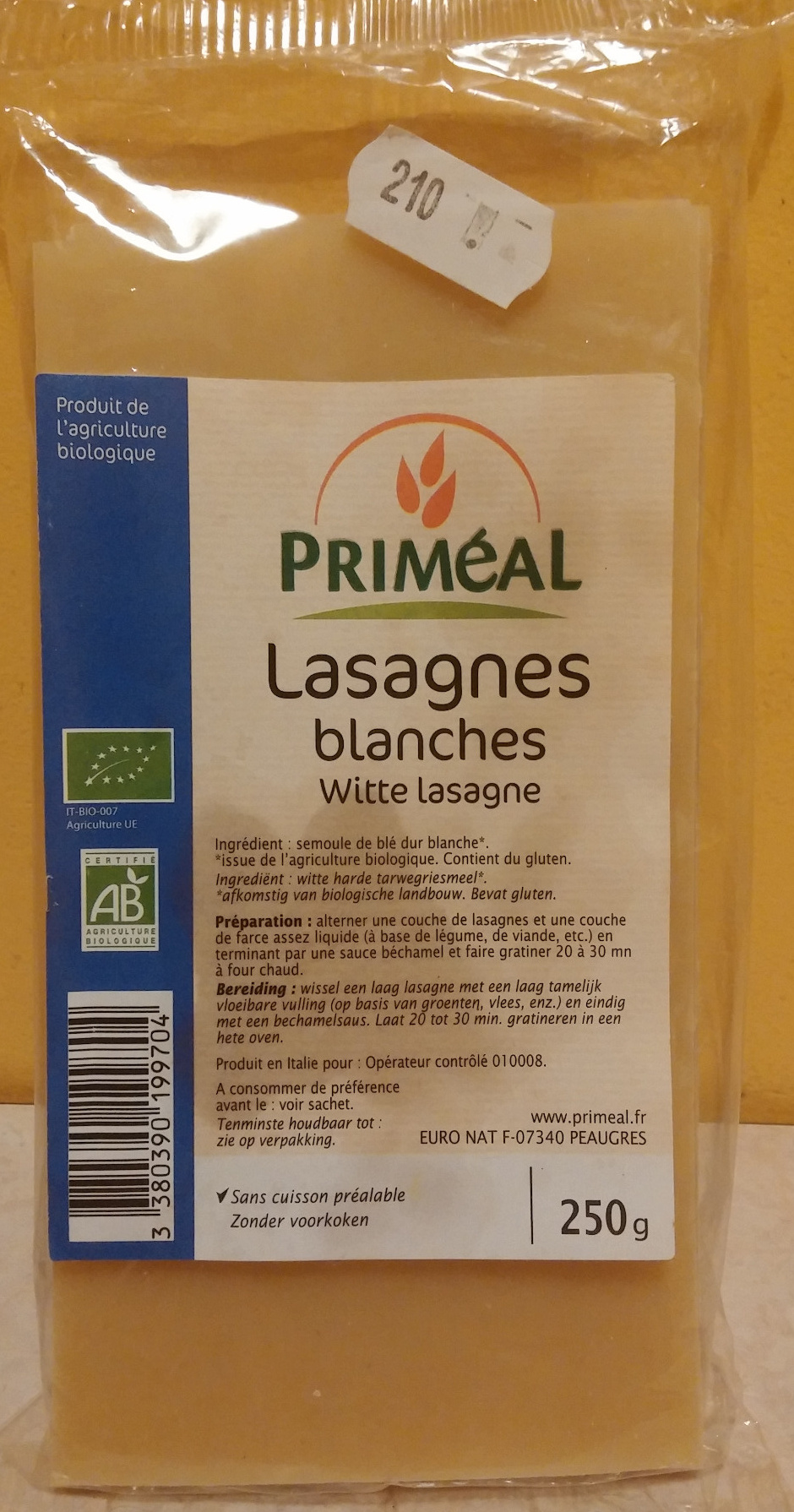 Lasagnes blanches - Product