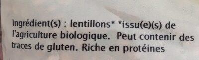Lentillons de France - Ingrediënten - fr