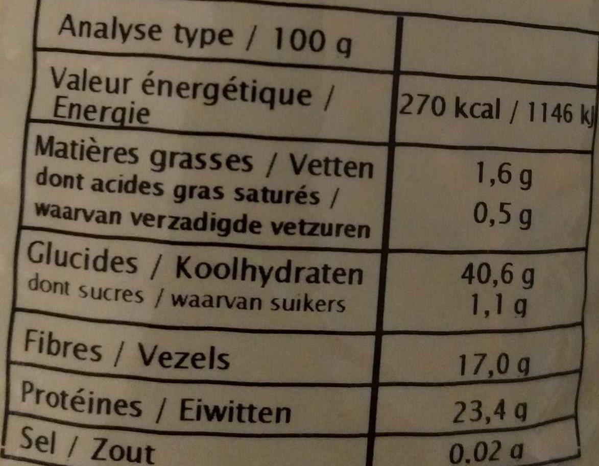 Lentillons de France - Voedingswaarden - fr