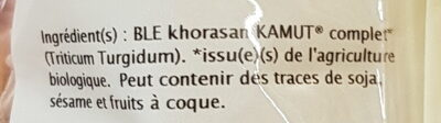 Blé Khorasan Kamut - Ingrédients