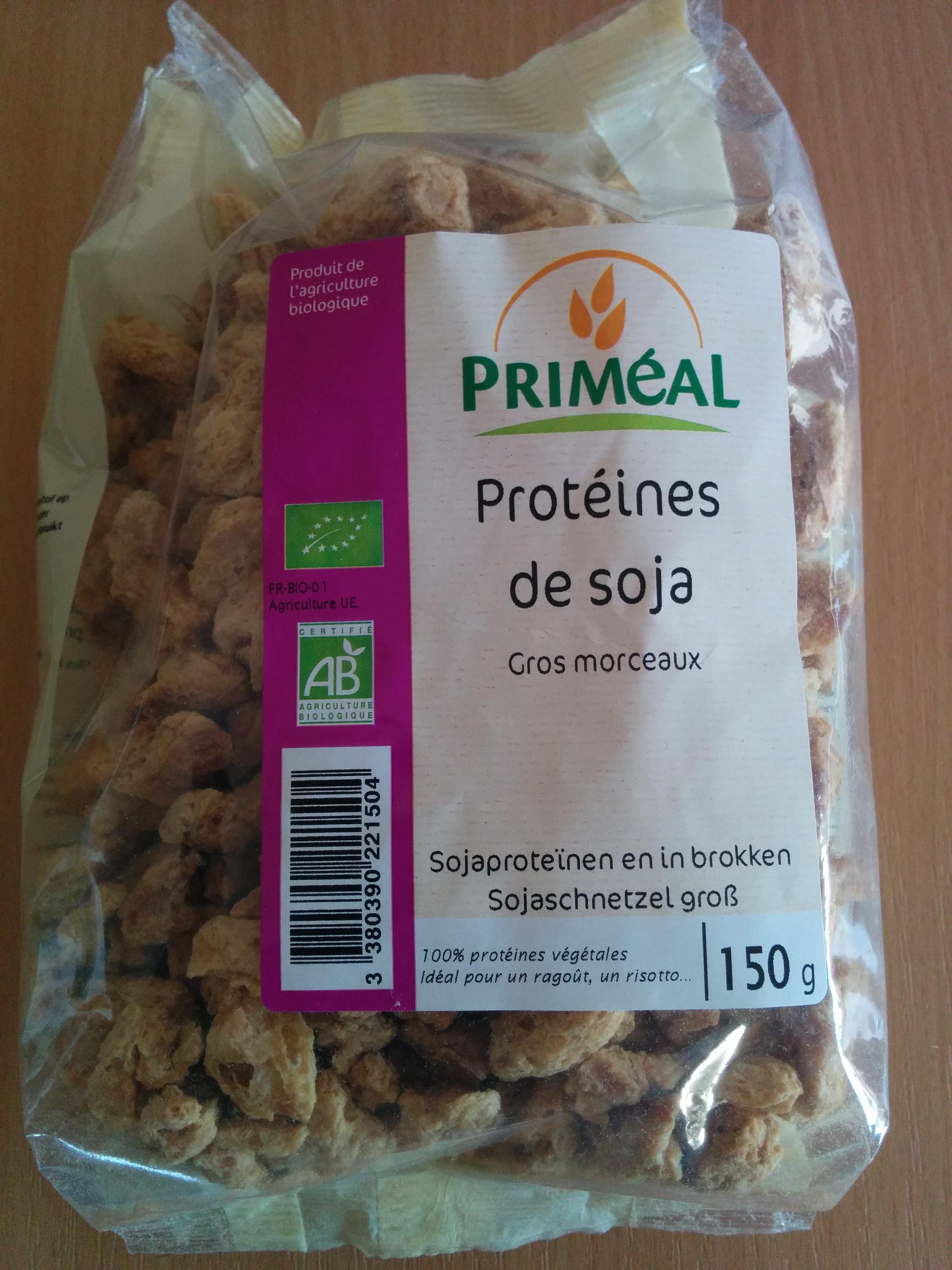 Prot ines de soja gros morceaux prim al 150 g for Proteine de soja