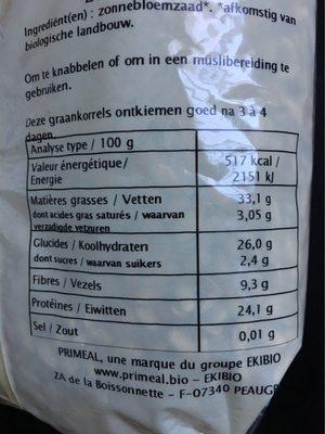 Graines de tournesol - Nutrition facts