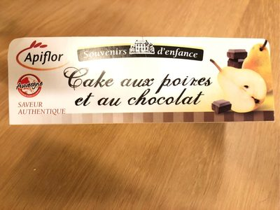 Cake poire chocolat - Produit - fr