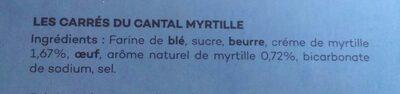Les carrés du Cantal - Ingrédients