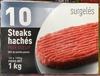 10 Steaks hachés pur boeuf 20% MG surgelés - Product