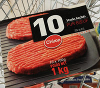 10 steaks hachés pur bœuf - Produit - fr