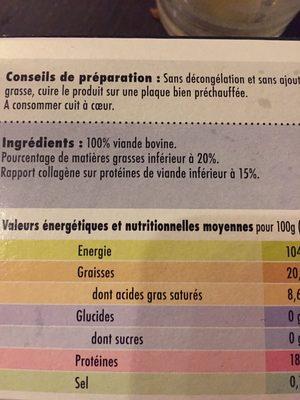 10 steaks hachés pur bœuf - Ingrédients - fr