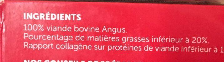 Steak haché Angus façon bouchère - Ingrédients - fr