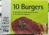 10 burgers surgelés - Product