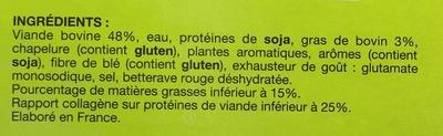 10 burgers surgelés - Ingrédients