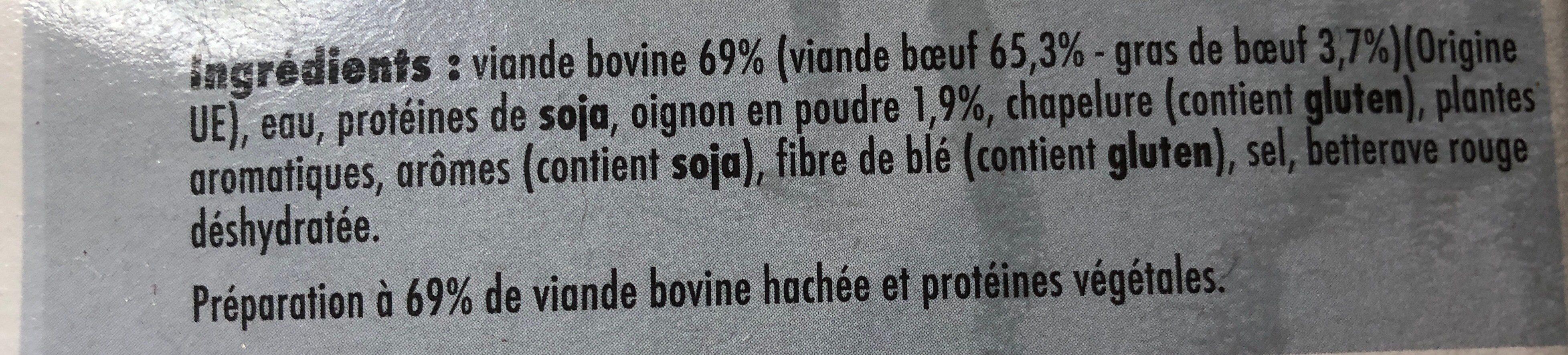 Hachés de boeuf à l'oignon - Ingredients - fr