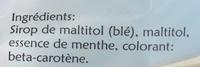 Bêtises de Cambrai sans sucres - Ingrédients