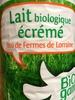 Lait biologique écrémé issu des fermes de Lorraine - Product