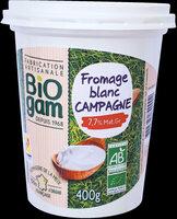 Fromage blanc Campagne BIO - Produit - fr