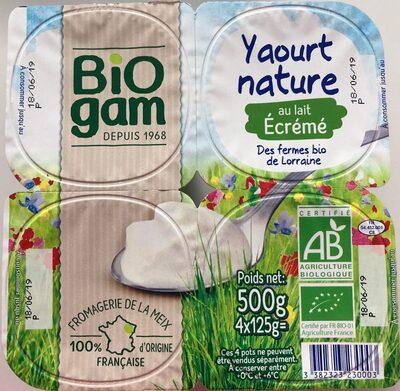 Yaourt Nature au Lait Ecrémé - Product