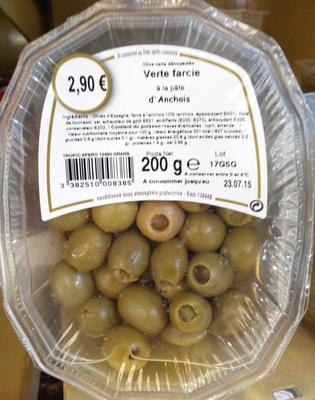 Verte farcie à la pâte d'anchois - Produit - fr