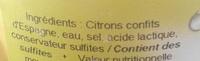Citron confit - Ingrédients - fr