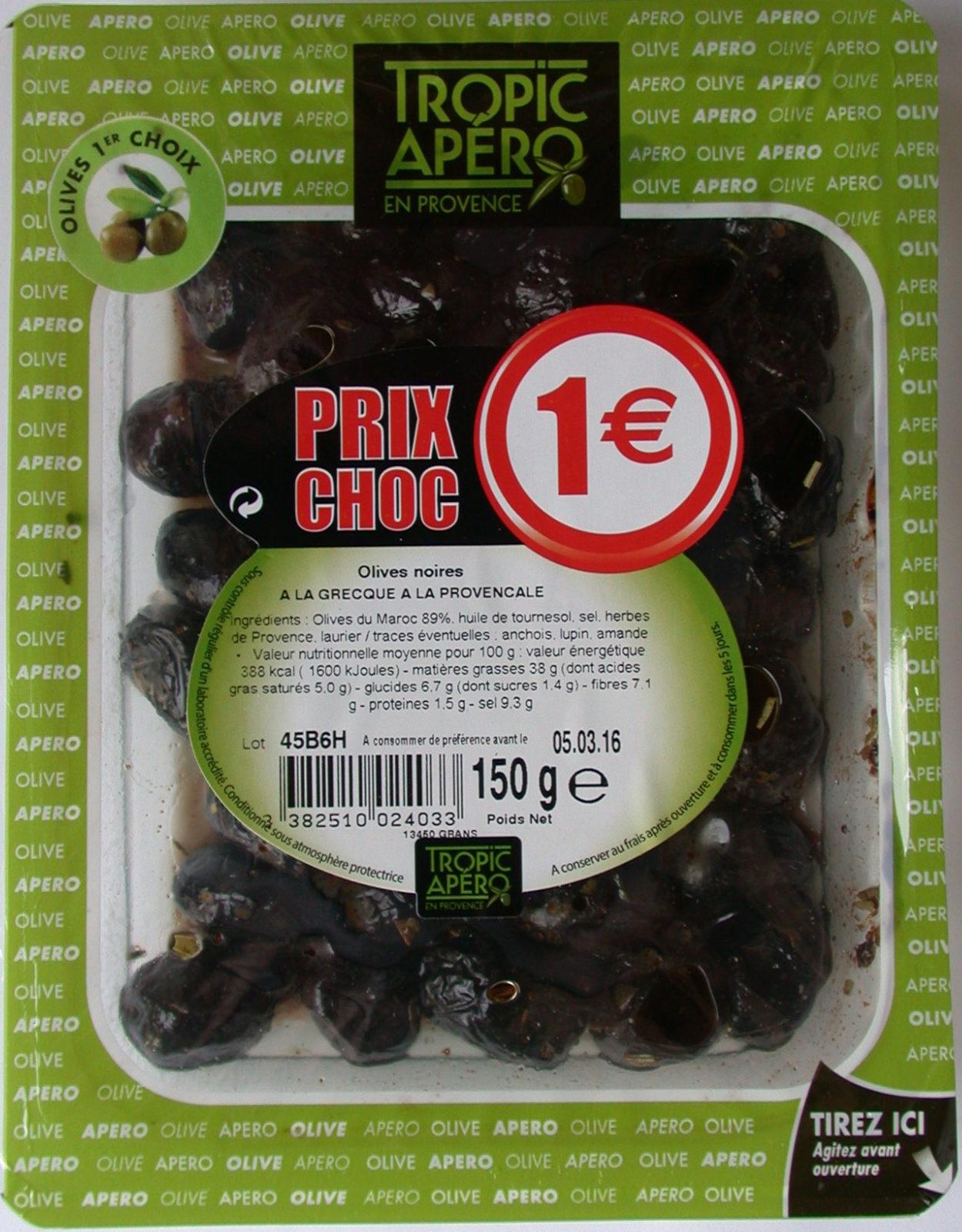 Olives noires a la grecque a la provencale - Produit - fr