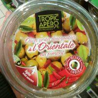 Olives vertes dénoyautées à l'orientale au piment - Product