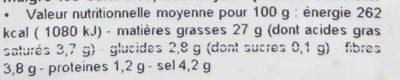 Olives vertes dénoyautées à l'orientale au piment - Voedigswaarden