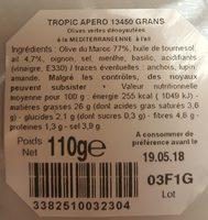 Olives vertes denoyautes à l'ail - Ingredients - fr