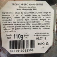 Bioolives Olives noires denoyautees - Ingredients - fr
