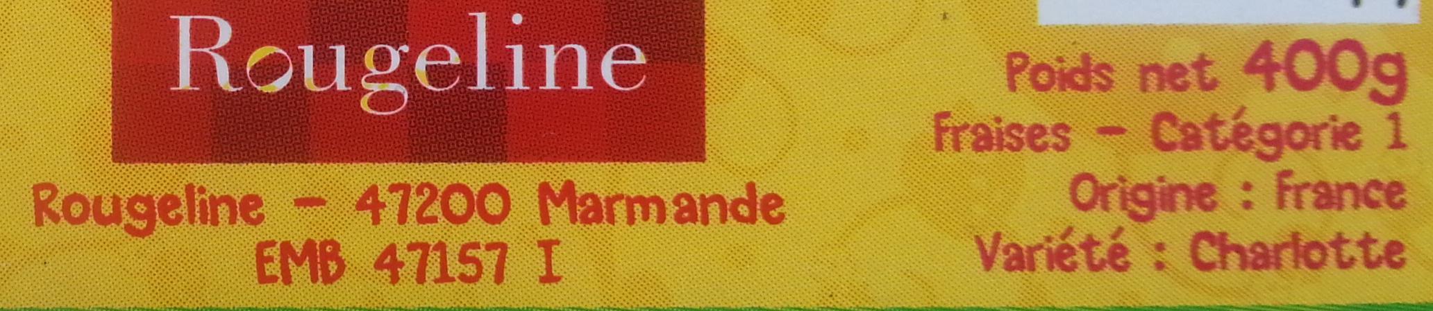 Fraises variété Charlotte - Ingredients - fr