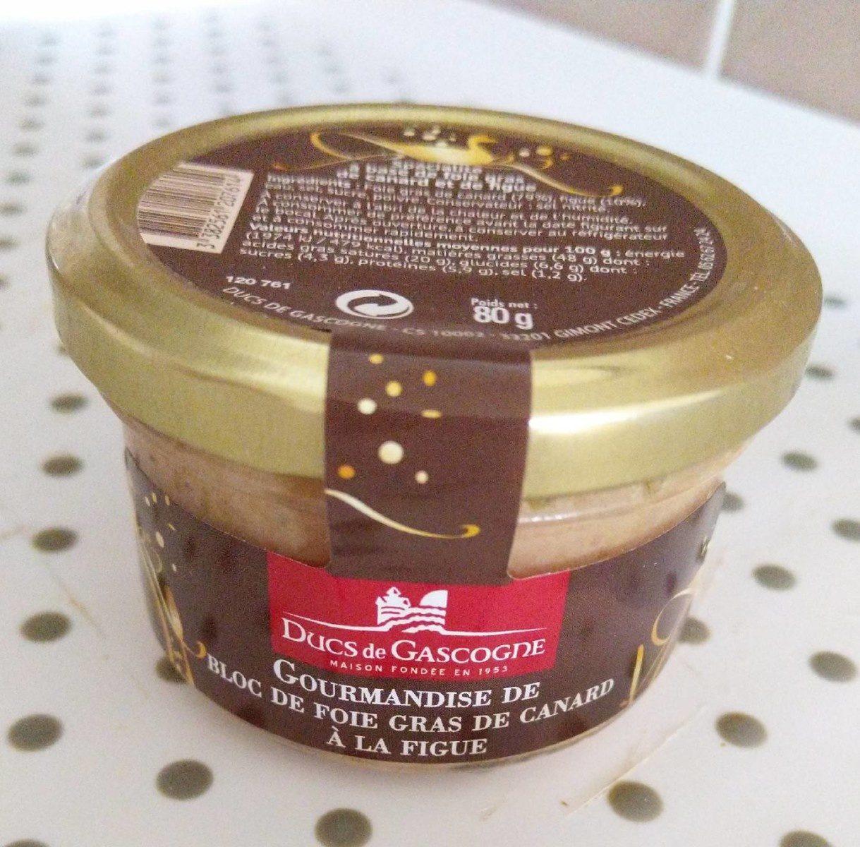 Gourmandise de bloc de foie gras de canard à la figue - Product