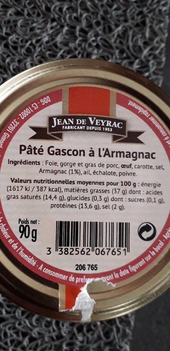 Pâte de gascon à  l armagnac - Product - fr