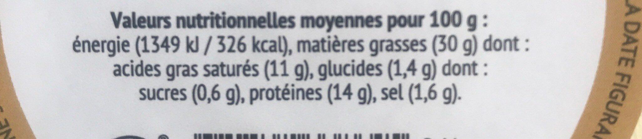Terrine pur porc - Informations nutritionnelles - fr