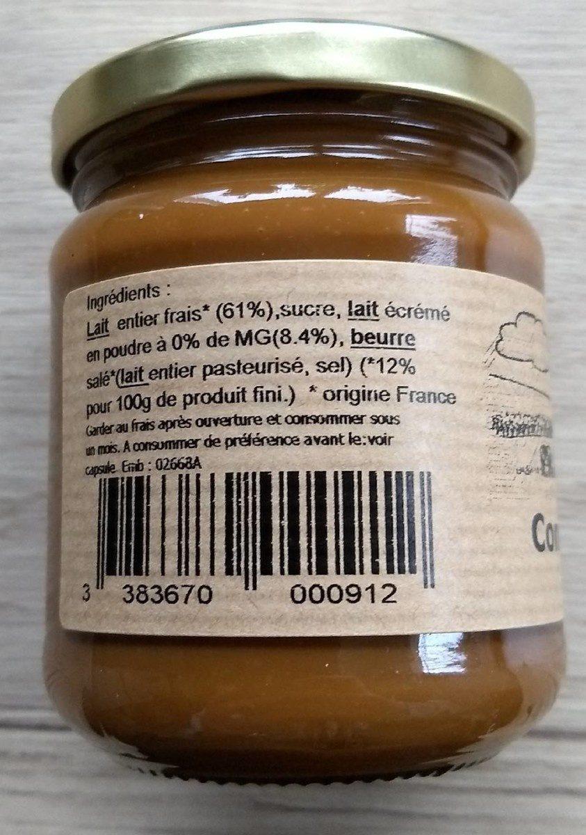 Confiture de lait beurre salé - Ingredients