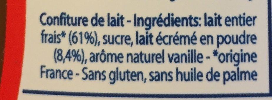 Confiture de lait - Ingredients