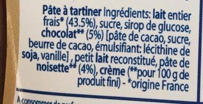 Confiture de lait chocalt noisette - Ingredients