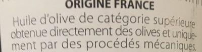 Huile d'olive - Ingredienti - fr