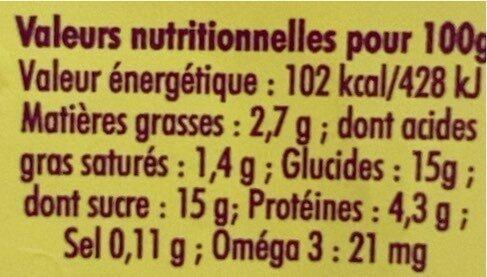 Yaourt au lait du jour de nos vaches - Valori nutrizionali - fr